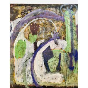 """Vintage Wall Art - """"Hope"""" Vintage 70s Abstract Expressionist Painting"""